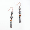 Natural Stone Retro Metal Wood Earrings - Chloe's Jewelry Box