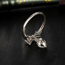 Bow Tie Ring with Drop Heart - Chloe's Jewelry Box