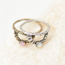 Natural Stone Triangle Hollow Ring - Chloe's Jewelry Box