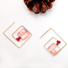 Natural Stone Pink Maze Earrings - Chloe's Jewelry Box