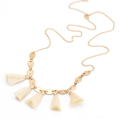 Trendy Tassel Summer Necklace - Chloe's Jewelry Box