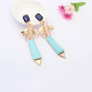 Elegant Emerald Pink Drip Earrings - Chloe's Jewelry Box