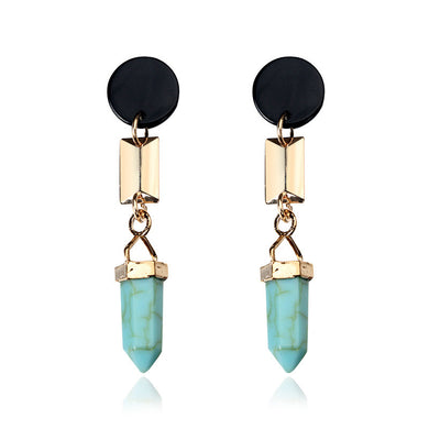 Natural Stone Droplets Earrings - Chloe's Jewelry Box