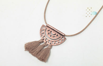 Indiana Rope Tassel Adjustable Necklace - Chloe's Jewelry Box