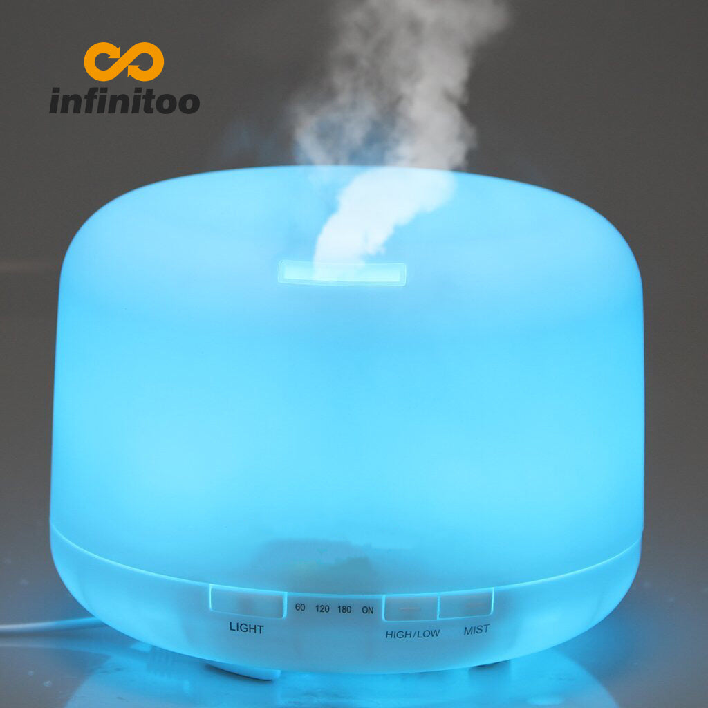 500ML Aroma Diffuser Humidification Aromatherapy Purifier LED Color-Changing Lamp Light