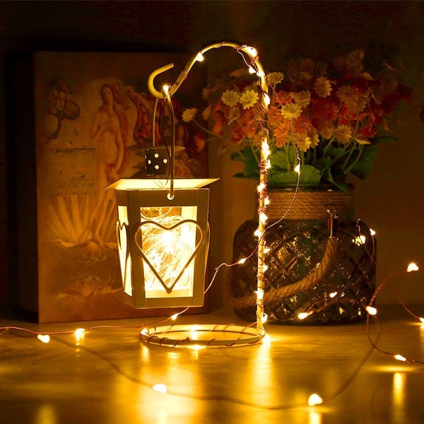 Infinitoo Solar Starry String Lights, 100 Led Outdoor Fairy Lights 33 Feet Copper Wire Warm White Ambiance Lighting for Gardens, Homes, Dancing, Christmas Party, Magical Lighting Decor for Indoor, Bedroom Window