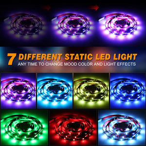 LED TV Backlight, infinitoo 2M 60s Colorful 5050 RGB LED Strip Lights for HDTV up to 60 inch, IP65 USB LED Light 17Keys with Remote Control, 1M USB cable, 3x20CM connection cable, 2x4P connection pin