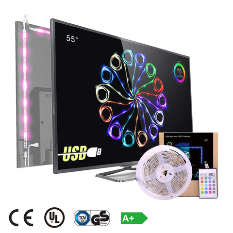 infinitoo 5050 Led light Strip TV Backlight for 55 Inch,Pack of 4 Pre Cut [Energy Class A+]