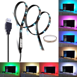 LED TV Backlight Bias lighting Kit - 5050 RGB LED Strip Lights Kit For TV Screen Back And Flat Screen LCD, Desktop PC(35.4in, 27LED)