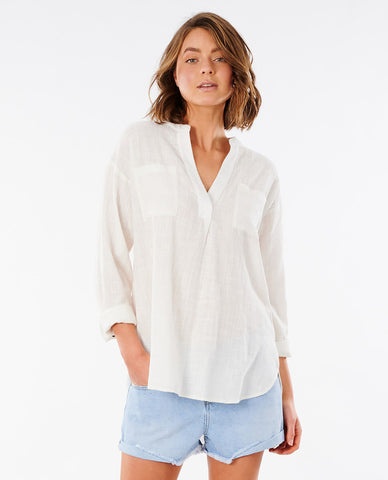 CATCH MY DRIFT WOVEN TOP