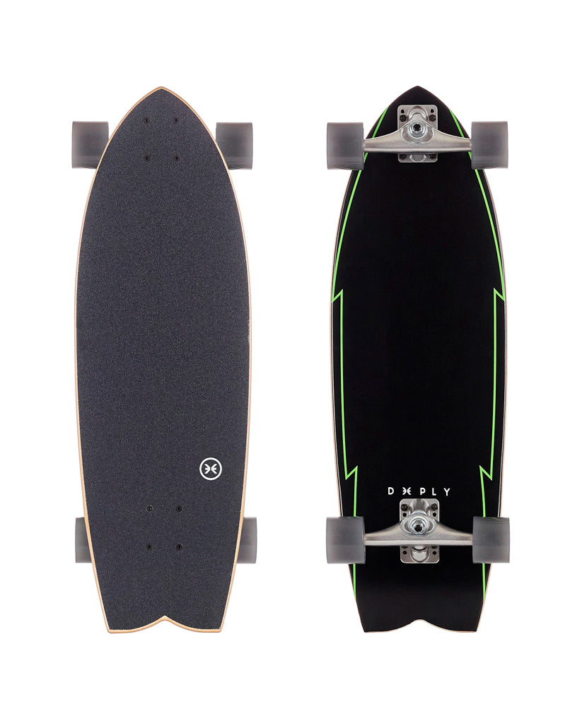 Deeply-skate-shop-Surfskate Double Flyer Black