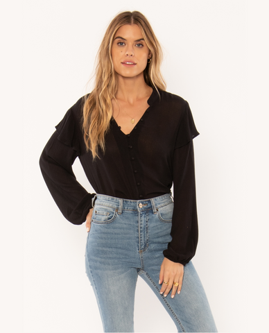 NIGHT MOVES WOVEN TOP