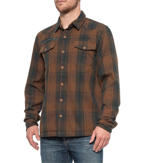 Hurley Kyoto Flannel Mens Woven Long-Sleeve Top