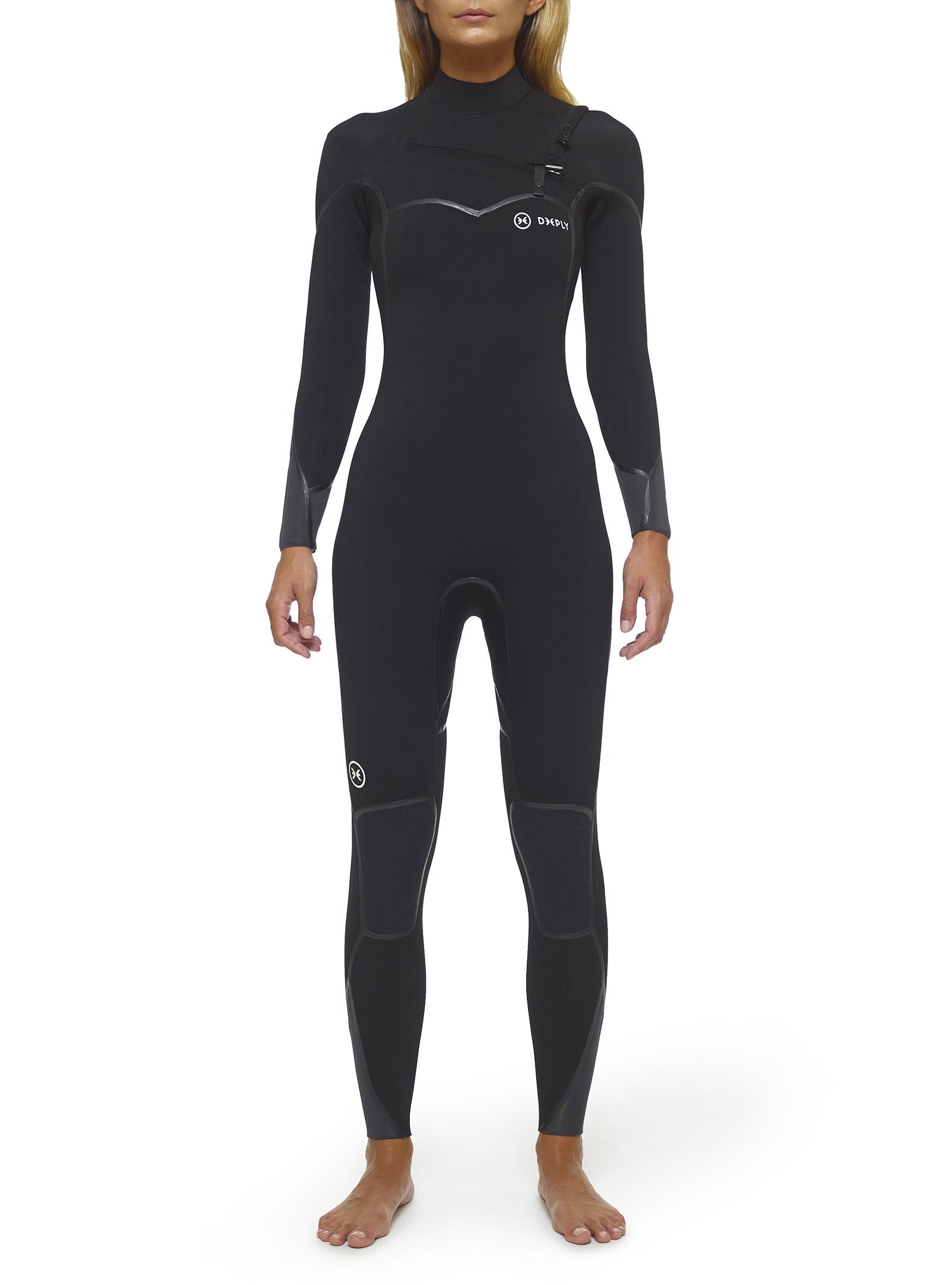Deeply Wetsuit Performance 4/3 Chest Zip Fastdry Graphene