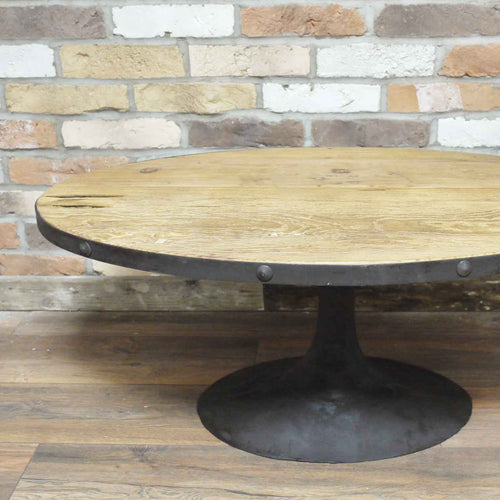 Cremona oval coffee table side