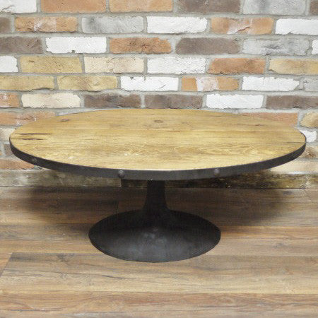 Cremona oval coffee table full view