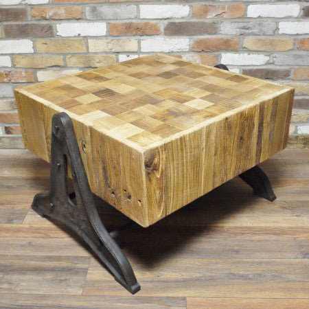 Imola elmwood coffee table full view