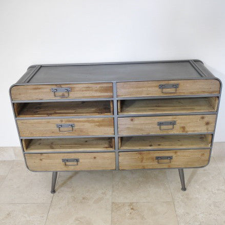 Livorno small retro industrial cabinet