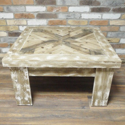 Massa inlay rustic coffee table full view