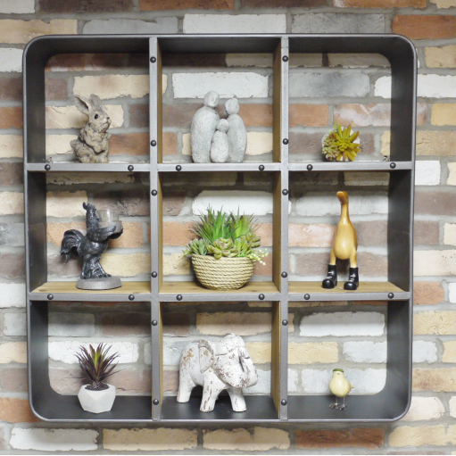 Leopardi Retro Industrial Wall Unit