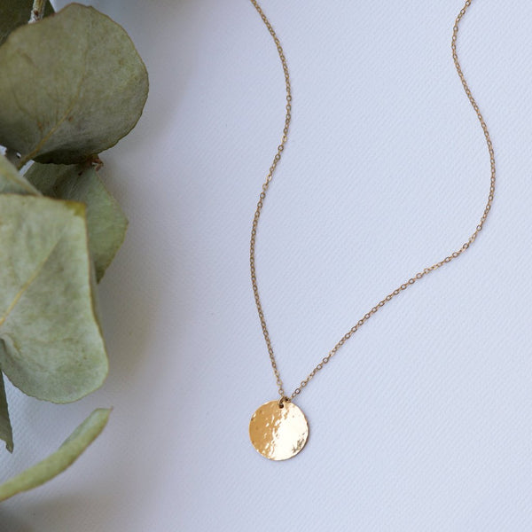 Midi Textured disc (14k Gold Filled)