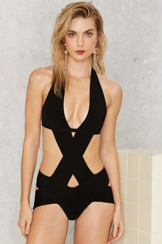 Nasty Gal One Piece Bandage Swimsuit