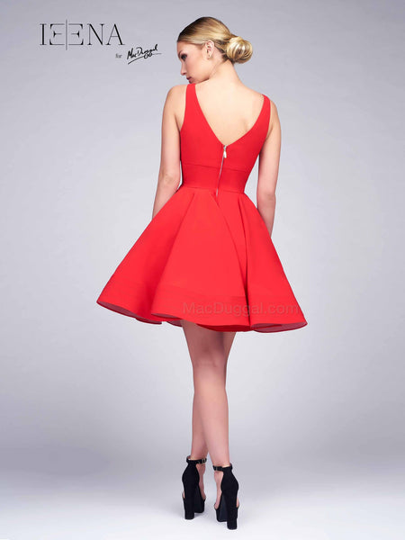 Ieena for Mac Duggal Red Cocktail Dress