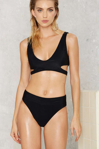 Nasty Gal Alina High Waist Bikini Bottoms
