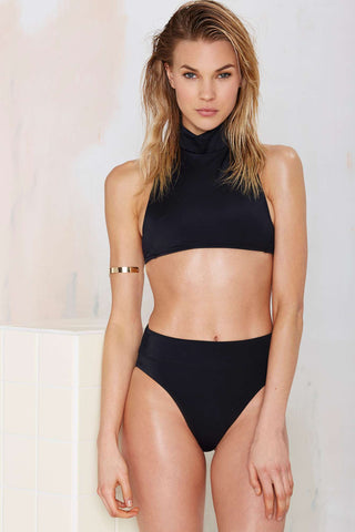 Nasty Gal Deep Water Bikini Bottoms