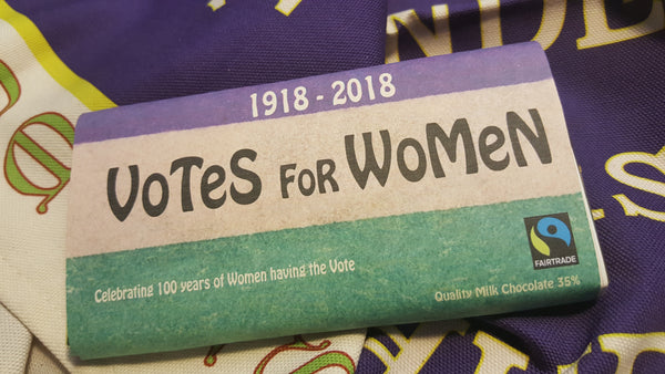 Votes for Women milk chocolate 80g (£2.50 a bar delivery included)