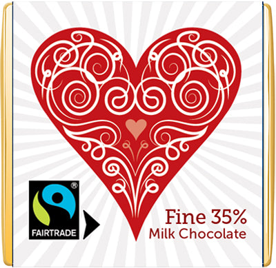 Heart Milk Meaningful Chocolate Thin Squares