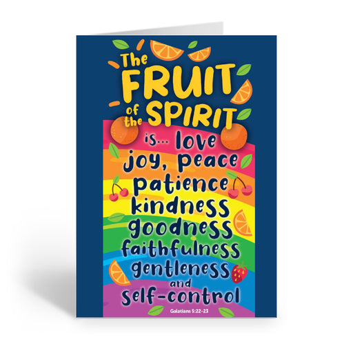 Personalised Fruit of the Spirit card