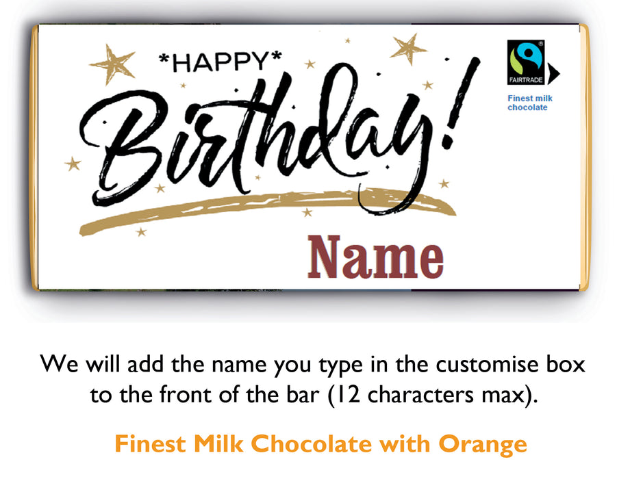 Send a customised birthday bar through the post