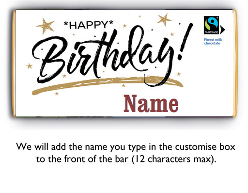 Send a personalised birthday bar through the post