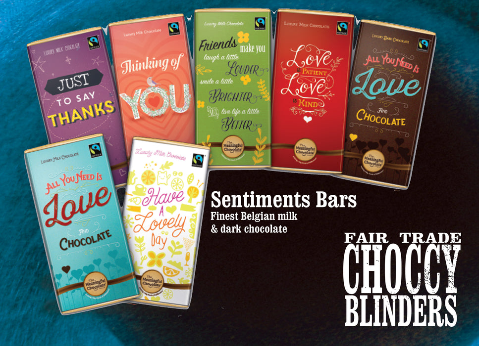 Sentiments bar - All You Need Is Love and Chocolate (milk)