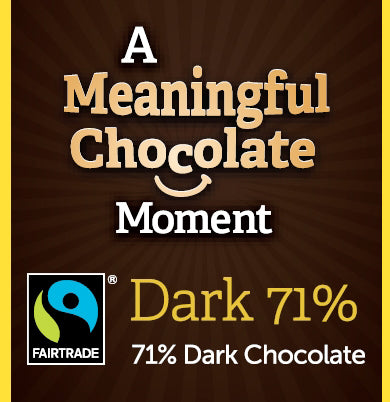 Dark Meaningful Chocolate Thin Squares