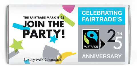 25th Anniversary Fairtrade Mark Bar Milk (Case of 12 bars)