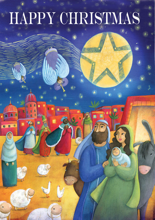 Personalised Happy Christmas Nativity Card