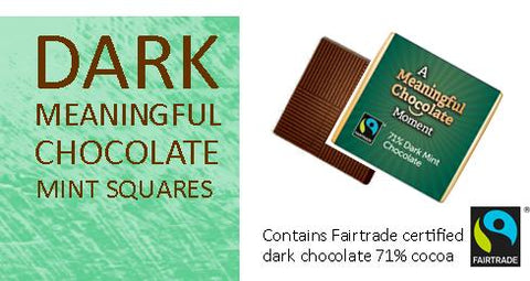 Dark Mint Meaningful Chocolate Thin Squares