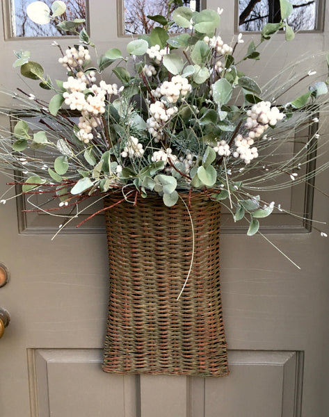 Holiday and Winter Door Basket