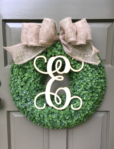 Large Monogram Wreath