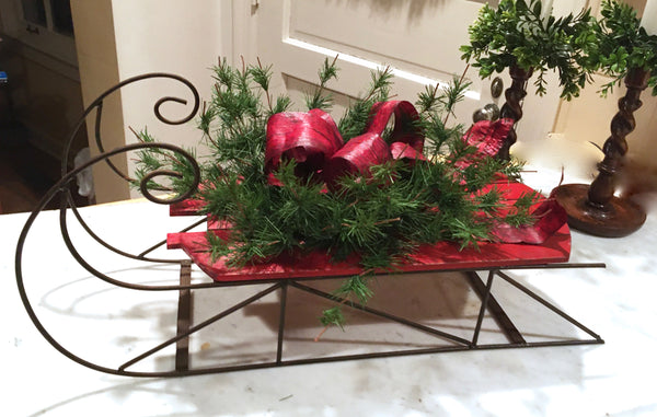 Holiday Sled Centerpiece