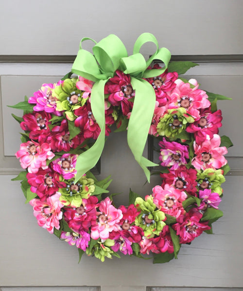 Zinnia Wreath