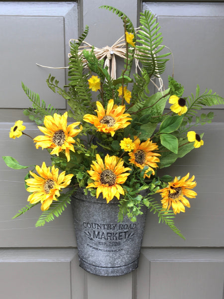 Sunflower Door Planter