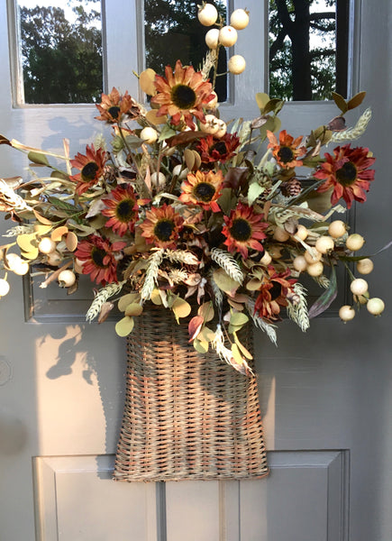 Autumnal Door Basket