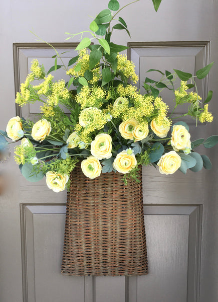 Fabulous Ranunculus Door Basket