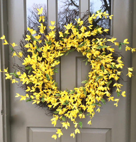 Forsythia Wreath-Large