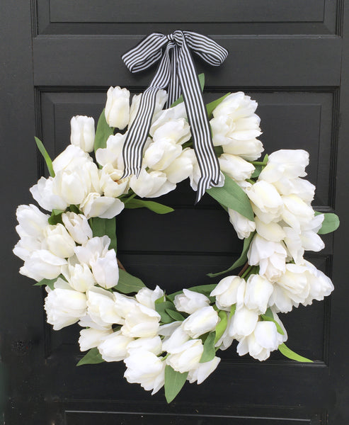 White Tulip Wreath
