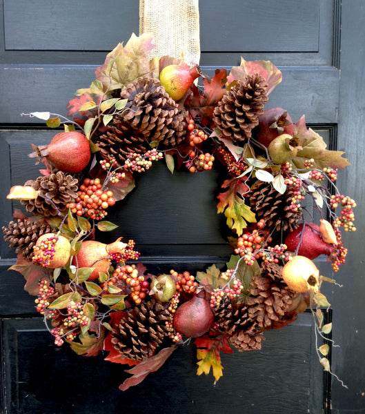 Fall Pomegranate Wreath