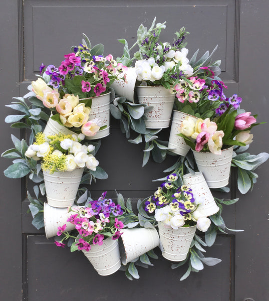 Buckets of Springtime Wreath